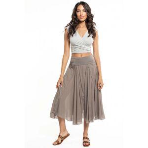 Hard Tail Forever Rolldown Diamond Skirt - Gravel - XS