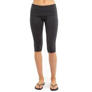 Hard Tail Forever Rolldown Knee Legging - Dark Charcoal Heather Gray - M