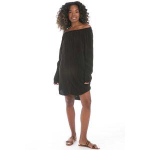 Hard Tail Forever Off Shoulder Dress - Black - S