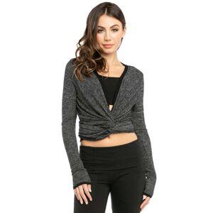 Hard Tail Forever Sweater Wrap Cardigan - Black - XS