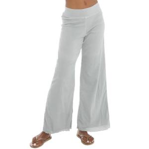 Hard Tail Forever Crinkle Crepe Flat Waist Layered Pants - Dove - XL