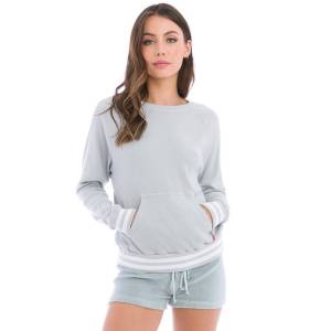 Hard Tail Forever Sporty Ribbed Pullover - Dove - XL