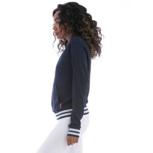Hard Tail Forever Sporty Ribbed Pullover - Navy - L