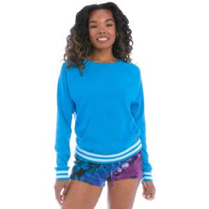 Hard Tail Forever Sporty Ribbed Pullover - Pacific - S