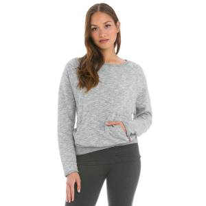 Hard Tail Forever Charcoal Vintage French Terry Basic Raglan Pullover - Charcoal Heather - XS