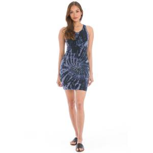 Hard Tail Forever Organic Cross Back Dress - Electric Mineral Wash 8 - S