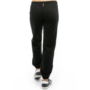 Hard Tail Forever Lurex Slouchy Elastic Bottom Sweatpant - Black Gold - L