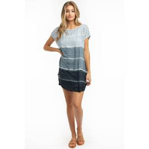 Hard Tail Forever Holey Jersey Coverup Tunic Dress - Baby Lines 2 - M