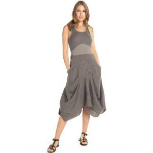 Hard Tail Forever Indigo Stripe Lanai Linen Dress - Gravel - XL