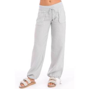 Hard Tail Forever Slouchy Cargo Linen Pants - Dove - S