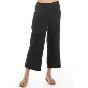 Hard Tail Forever Slim Crop Sailor Linen Pants - Black - XL