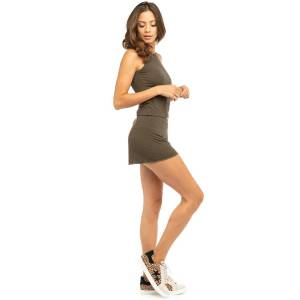 Hard Tail Forever Pull-On Low Rise Hot Short - Olive - L