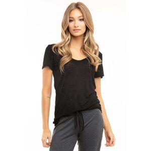 Hard Tail Forever Slouchy V-Neck T-Shirt - Black - XS