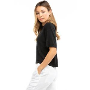 Hard Tail Forever Luxe Crop Boxy T-Shirt - Black - M
