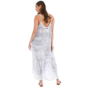 Hard Tail Forever Hi-Lo A-Line Flowy Maxi Dress - Storm Wash 2 - M