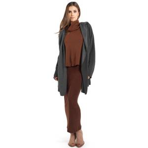 Hard Tail Forever Slouchy Wrap Jacket - Black - S