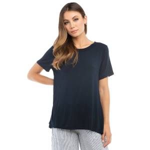 Hard Tail Forever A-Line Open Crew T-Shirt - Past Midnight - XS