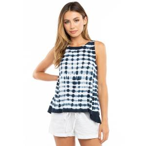 Hard Tail Forever A-Line Tank Top - Electric Lines 2 - L