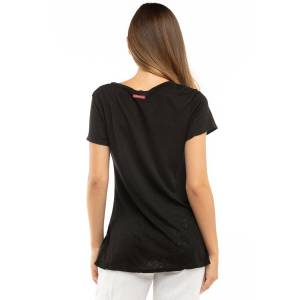 Hard Tail Forever A-Line V-Neck Slub T-Shirt - Black - S