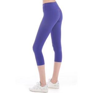 Hard Tail Forever Flat Waist Capri Performance Legging - Iris - XL