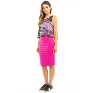 Hard Tail Forever Pencil Skirt - Pink - L