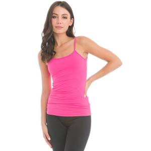 Hard Tail Forever Low Back Performance Tank Top - Pom Pom Pink - XS