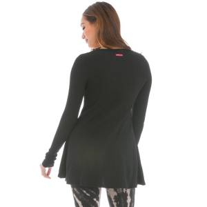 Hard Tail Forever Long Sleeve Frolic Thermal Top - Black - S