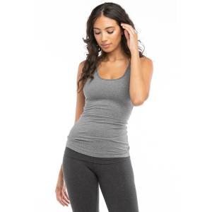 Hard Tail Forever Freestyle Bra Tank Top - Charcoal Heather Gray - L