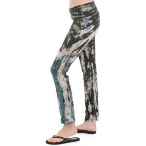 Hard Tail Forever Contour Rolldown Ciggy Pants - Electric Double Spiral 5 - L