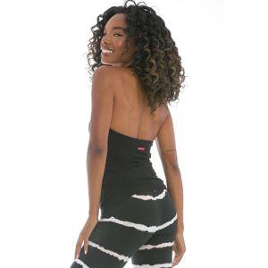 Hard Tail Forever Shirred Bra Halter - Black - XS