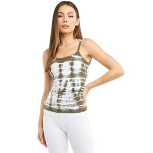 Hard Tail Forever Scoop Back Tank Top With Bra - Electric Lines 3 - XS