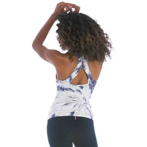 Hard Tail Forever Asana Tank Top With Bra - Two Time Spiral 4 - S