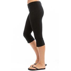 Hard Tail Forever Shirred Serpintine Capri Flare Pants - Black - S