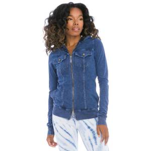 Hard Tail Forever Workout Jean Hoodie - Mineral Wash 5 - XS
