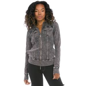 Hard Tail Forever Workout Jean Hoodie - Mineral Wash 6 - S
