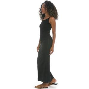 Hard Tail Forever Long Jean Skirt With Back Inset - Black - L