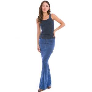 Hard Tail Forever Long Cargo Jean Skirt - Mineral Wash 5 - L