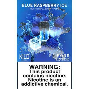 eLiquid Kilo eLiquids 1K Vaporizer Device - Refill Pod - Blue Raspberry ICE (4 Pack)
