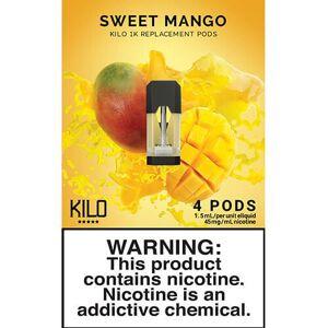 eLiquid Kilo eLiquids 1K Vaporizer Device - Refill Pod - Sweet Mango (4 Pack)