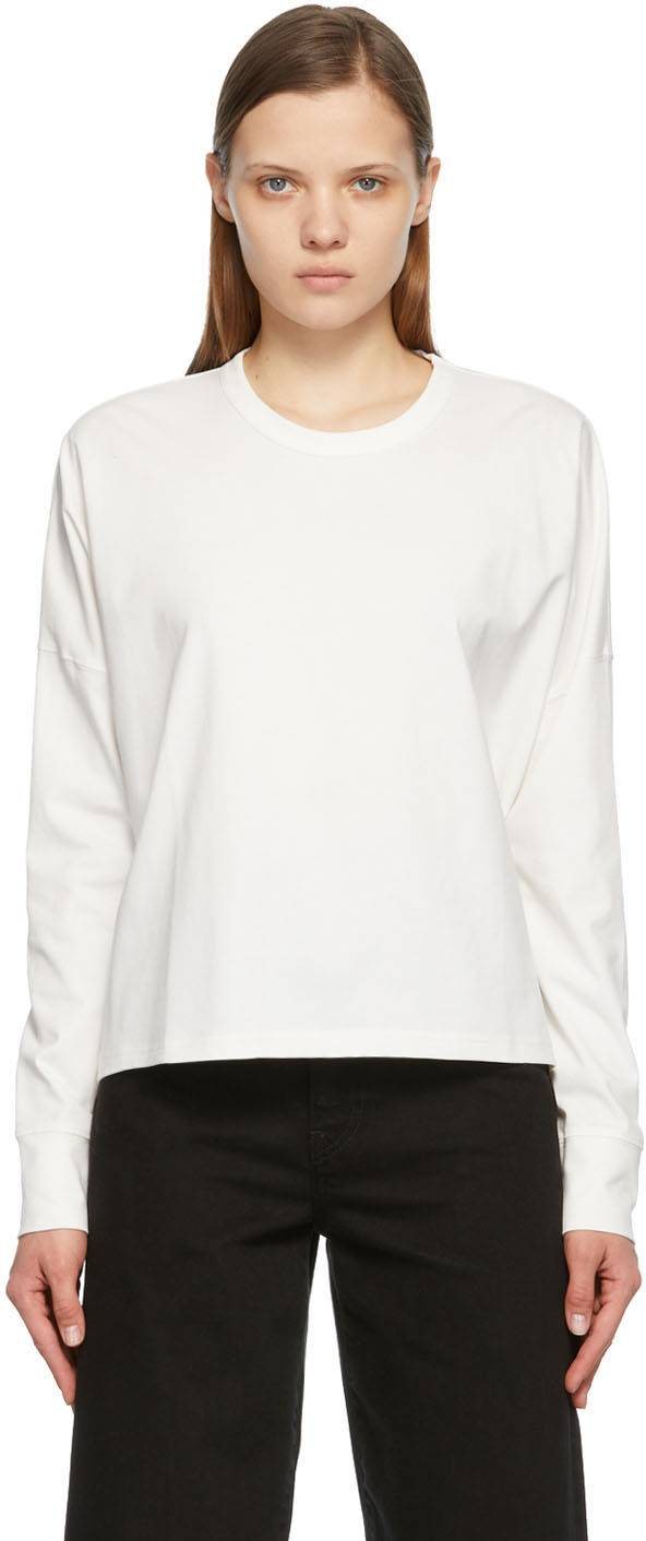 Studio Nicholson Off-White Loop Long Sleeve T-Shirt  - Off White - Size: Extra Small