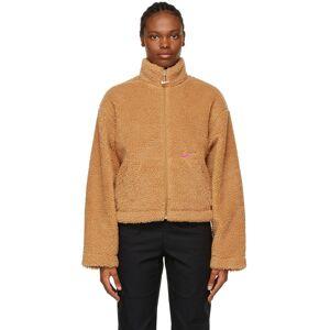 Nike Tan Sherpa Sportswear Jacket  - Flax/Cactus Flower - Size: Small