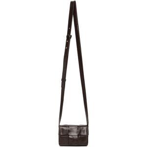Bottega Veneta Brown Mini Cassette Bag  - 2145 FONDANT SILVER - Size: UNI