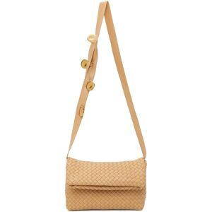 Bottega Veneta Beige Intrecciato Fold Bag  - 2700 ALMOND GOLD - Size: UNI