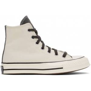 Converse SSENSE Exclusive Off-White & Grey Chuck 70 Hi Sneakers  - Turbulence - Size: 37