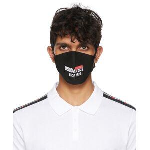 Dsquared2 Black Intarsia Logo Mask  - M1296 NERO+ - Size: UNI
