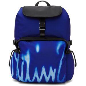 Paul Smith Blue Spray Print Logo Backpack  - PR PRINTED - Size: UNI