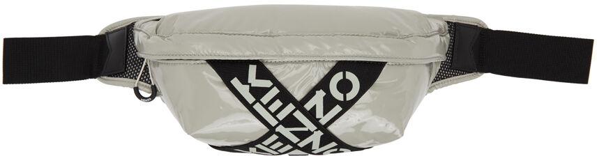Kenzo Grey Sport Logo Belt Bag  - 95 DOVE GREY - Size: UNI