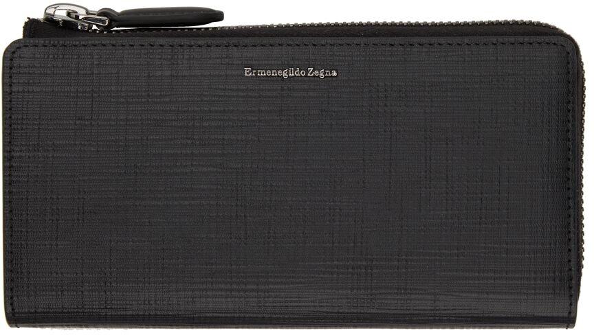 Ermenegildo Zegna Black Stuoia Phone Wallet  - NER BLACK - Size: UNI