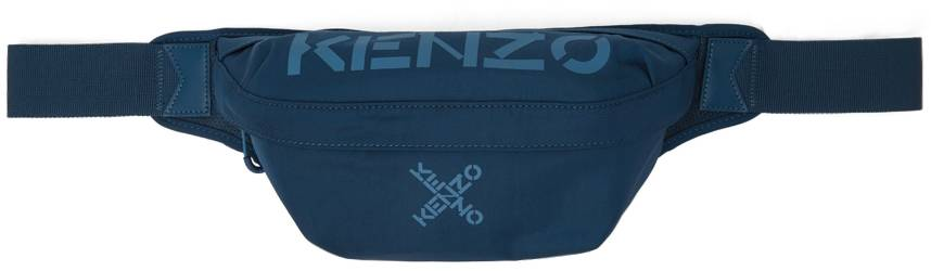 Kenzo Blue Sport Belt Bag  - 78 - INK - Size: UNI