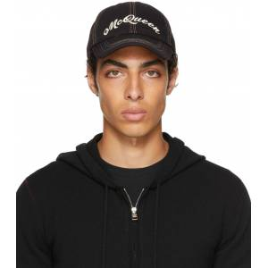 Alexander McQueen Black & Multicolor Baseball Cap  - 1088NERO/BR - Size: 60
